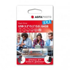 AGFAPHOTO USB-stick OTG 64GB USB3.2 2in1 type A-type C